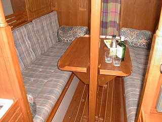 Table and settee sea-berths